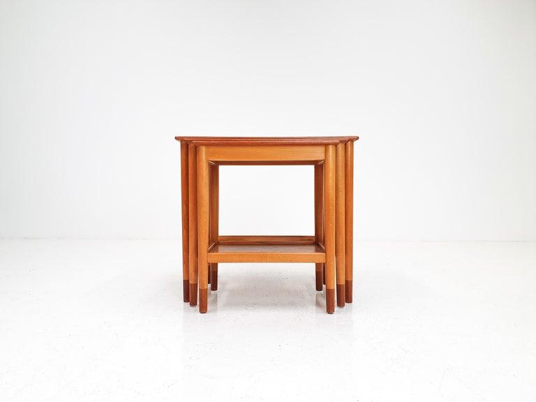 Børge Mogensen Nest of Tables for Søborg Møbelfabrik, Denmark, 1960s For Sale 2