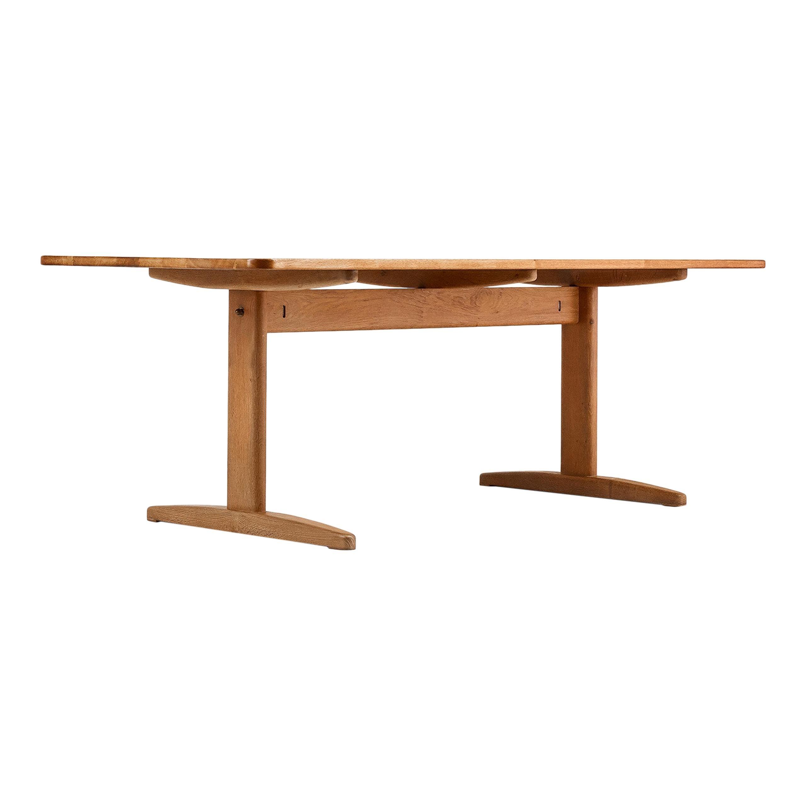 Børge Mogensen Oak Dining Table for C.M. Madsen, Denmark, circa 1960