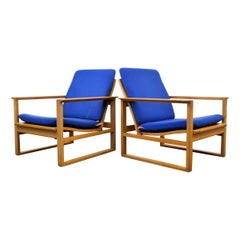 Børge Mogensen Oak Lounge Chairs Model 2256