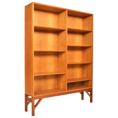 Børge Mogensen Oak Two Bay Bookcase