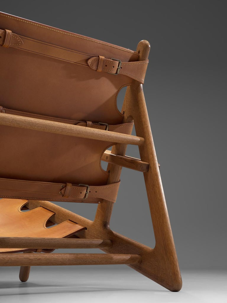 Mid-20th Century Børge Mogensen Pair of Hunting Chairs For Sale