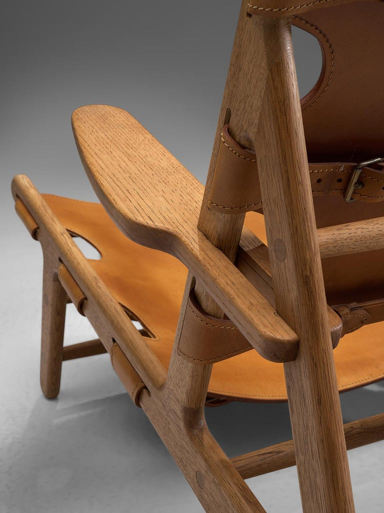 Oak Børge Mogensen Pair of Hunting Chairs For Sale
