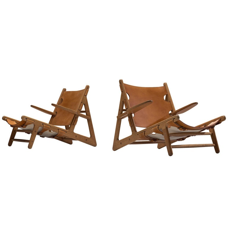 Børge Mogensen Pair of Hunting Chairs For Sale
