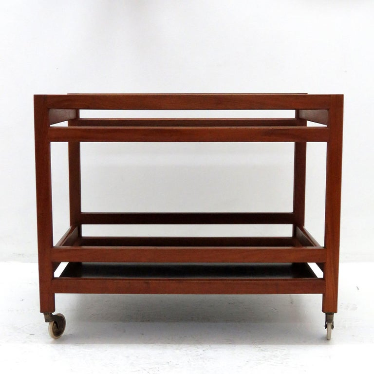 Scandinavian Modern Børge Mogensen Serving Cart, Model 5370 For Sale