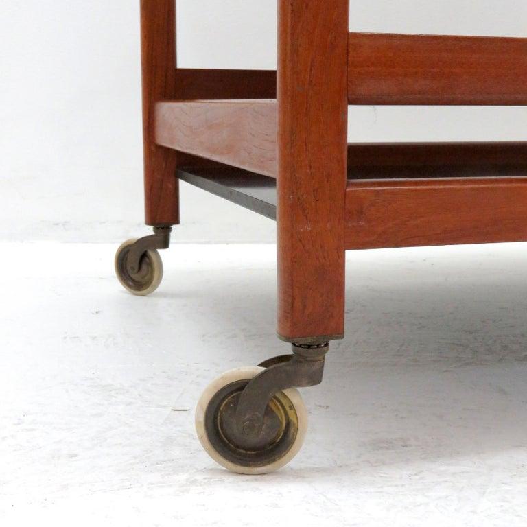 Teak Børge Mogensen Serving Cart, Model 5370 For Sale