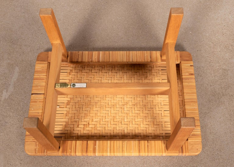 Børge Mogensen Set Benches Model 5273 in Natural Oak and Wicker for Fredericia For Sale 4