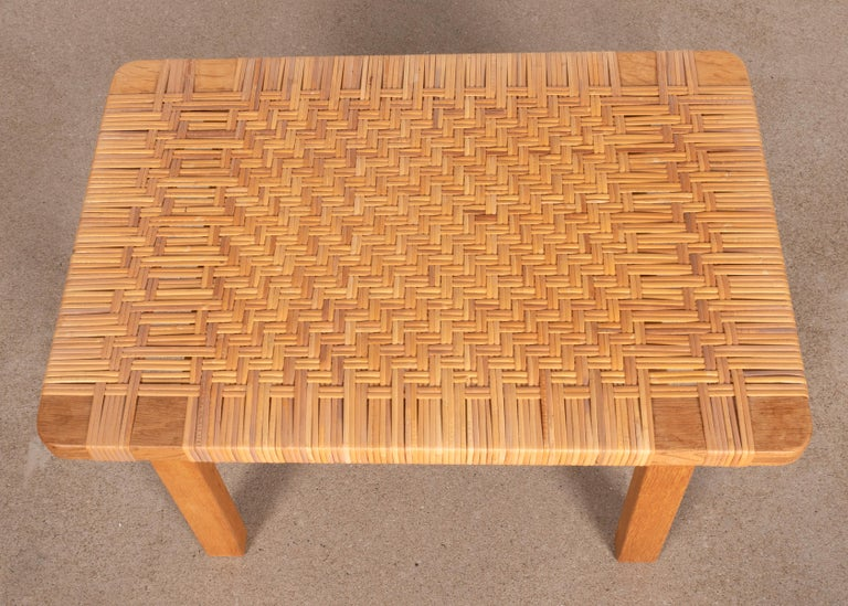 Børge Mogensen Set Benches Model 5273 in Natural Oak and Wicker for Fredericia For Sale 6