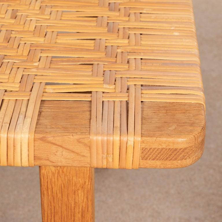 Børge Mogensen Set Benches Model 5273 in Natural Oak and Wicker for Fredericia For Sale 8