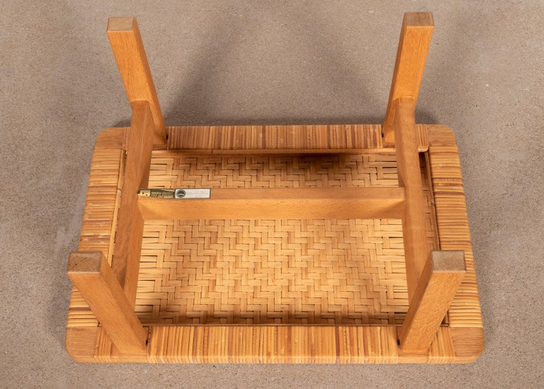Mid-20th Century Børge Mogensen Set Benches Model 5273 in Natural Oak and Wicker for Fredericia For Sale