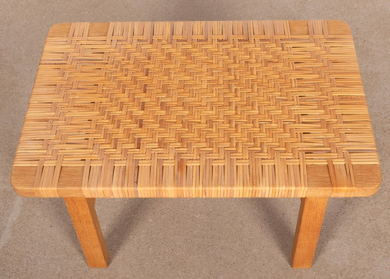 Børge Mogensen Set Benches Model 5273 in Natural Oak and Wicker for Fredericia For Sale 1