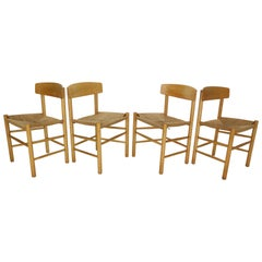 "Børge Mogensen Set of 4 ""J39"" Dinning Oak Chairs for FDB Møbler, 1947, Denmark"
