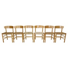"Børge Mogensen Set of 6 ""J39"" Dinning Oak Chairs for FDB Møbler, Denmark, 1947"