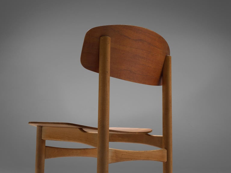 Mid-20th Century Børge Mogensen Set of Eight Dining Chairs in Teak For Sale