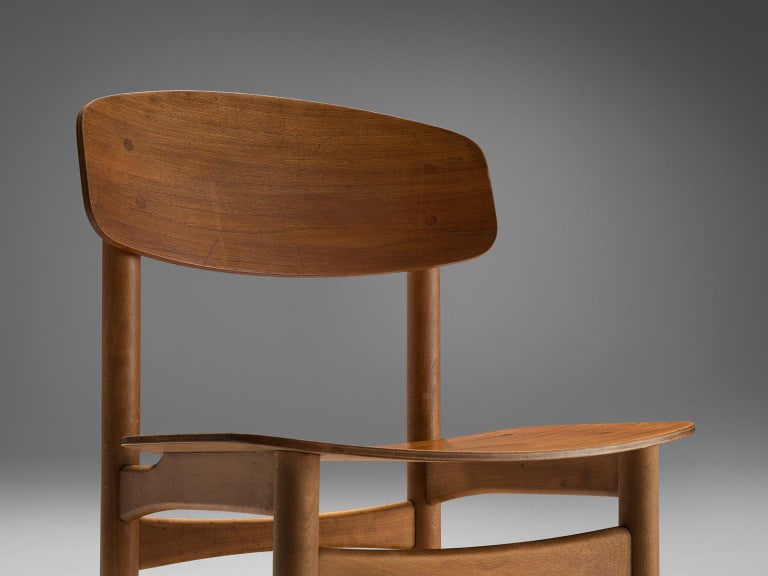 Børge Mogensen Set of Eight Dining Chairs in Teak For Sale 2