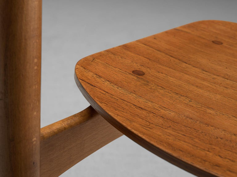 Børge Mogensen Set of Eight Dining Chairs in Teak For Sale 3