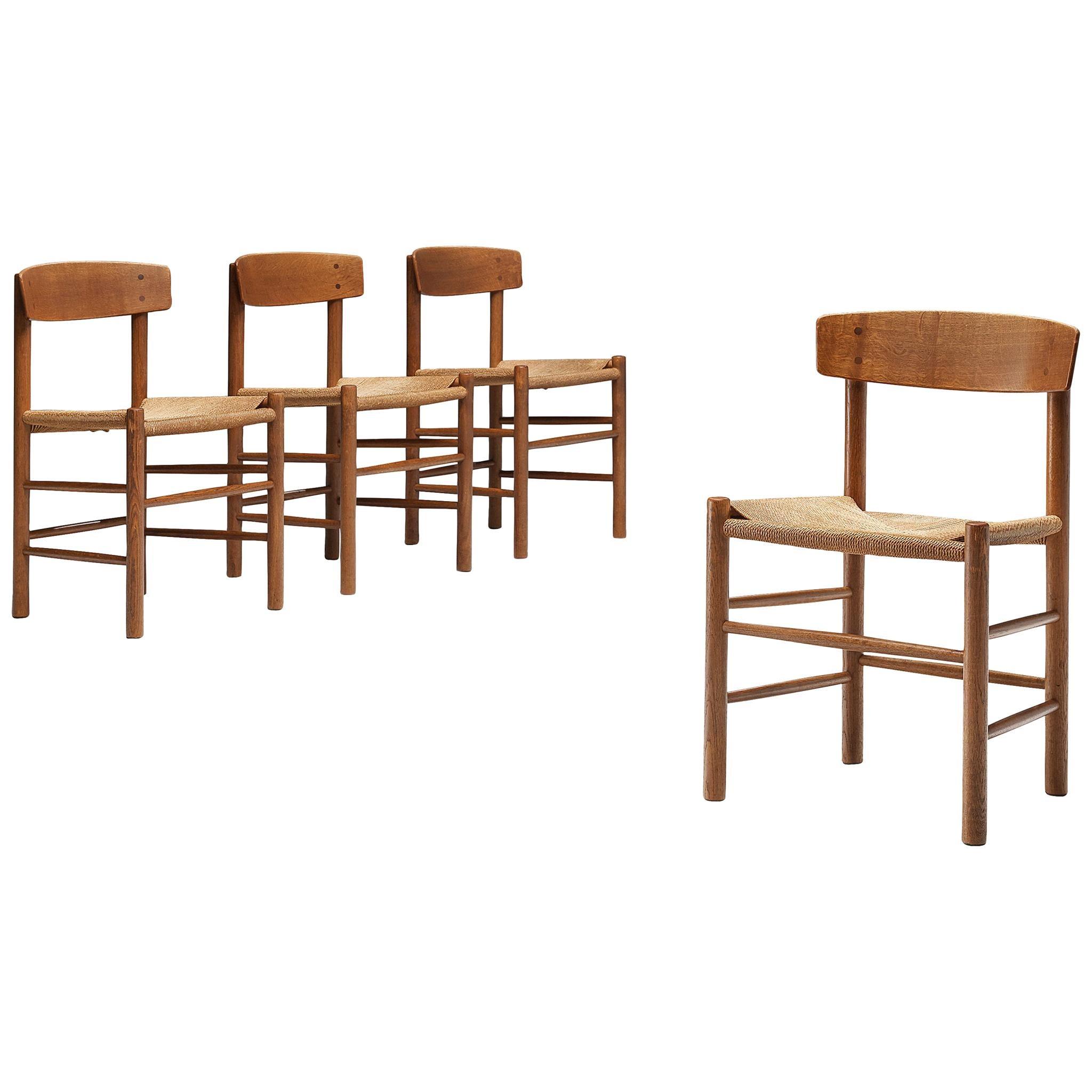 Børge Mogensen Set of Four Dining Chairs Model 'J39'