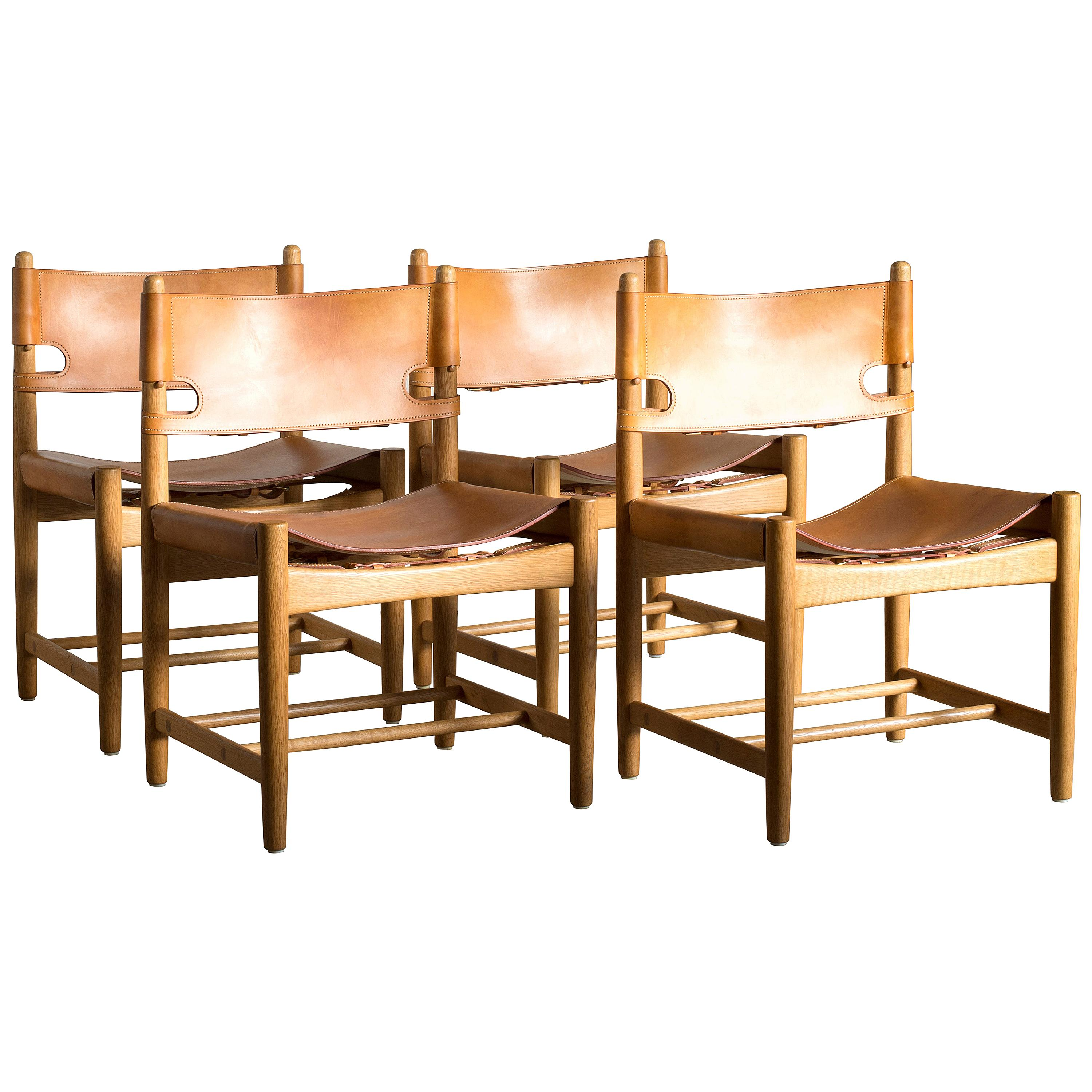 Børge Mogensen Set of Four Dinning Chairs for Fredericia Furniture