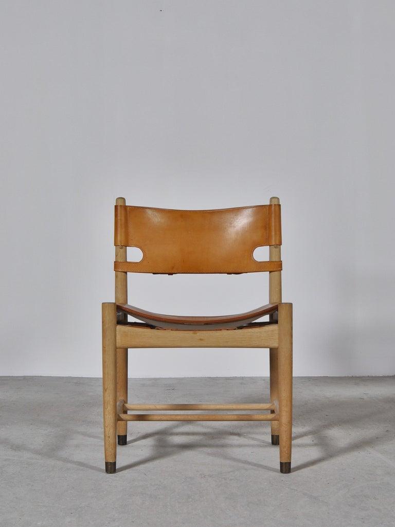 Danish Børge Mogensen Set of Oak and Leather