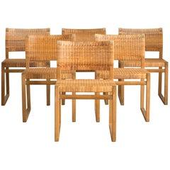 Børge Mogensen Set of Oak Chairs for P. Lauritsen & Søn