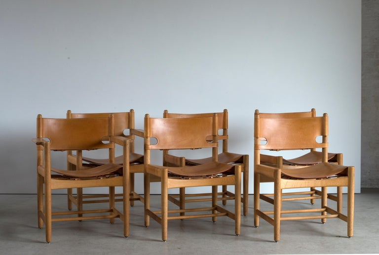 Danish Børge Mogensen Set of Six Dinning Chairs for Fredericia Furniture For Sale