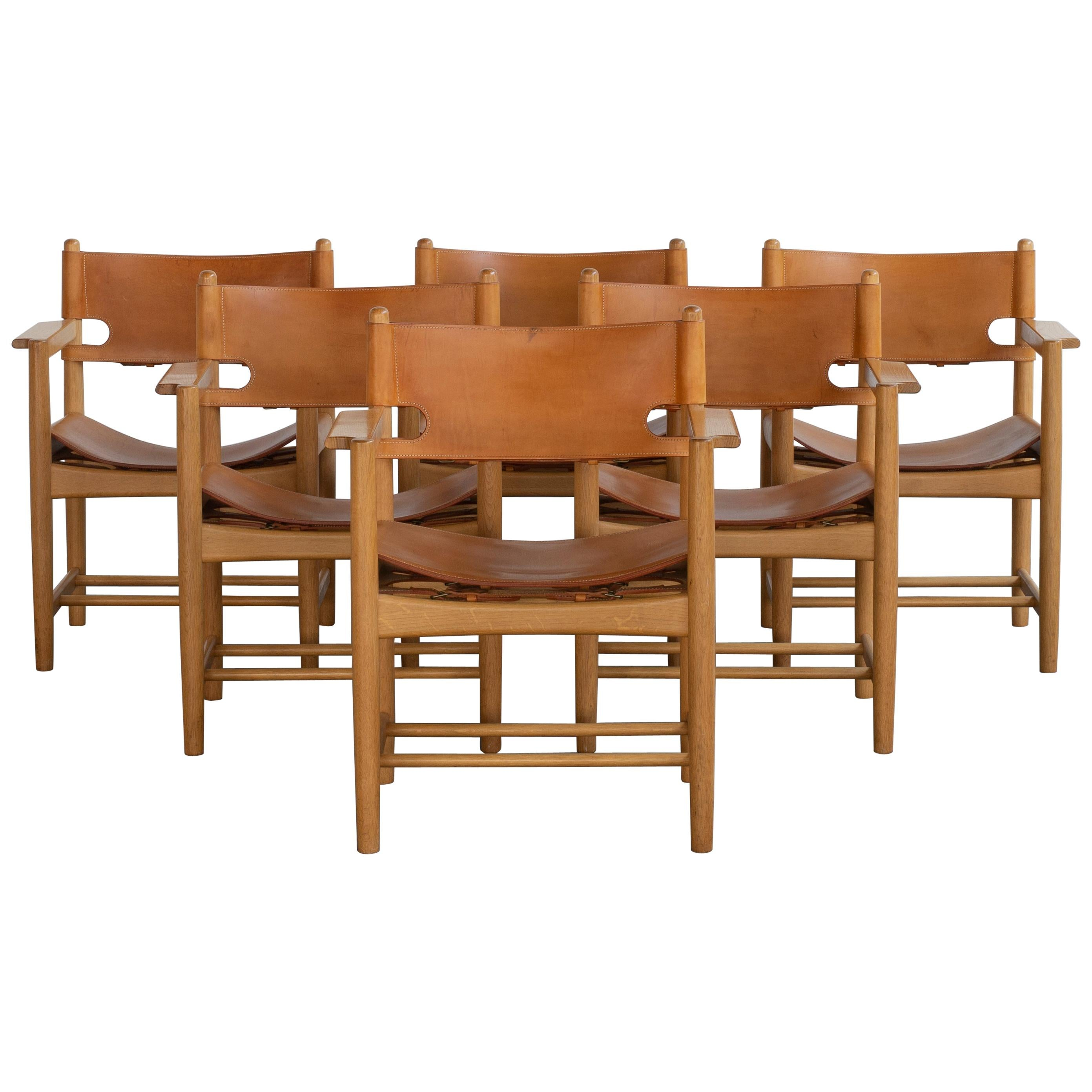 Børge Mogensen Set of Six Dinning Chairs for Fredericia Furniture