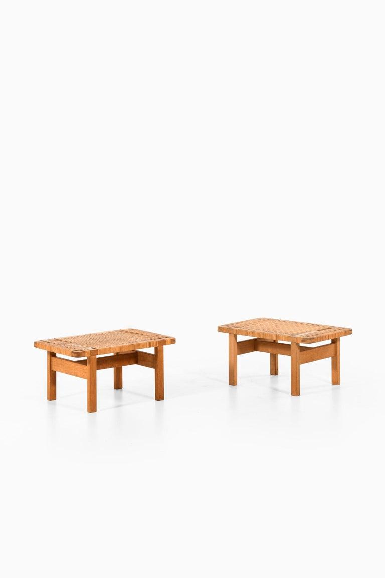 Scandinavian Modern Børge Mogensen Side Tables or Benches Model 5273 by Fredericia Stolefabrik For Sale