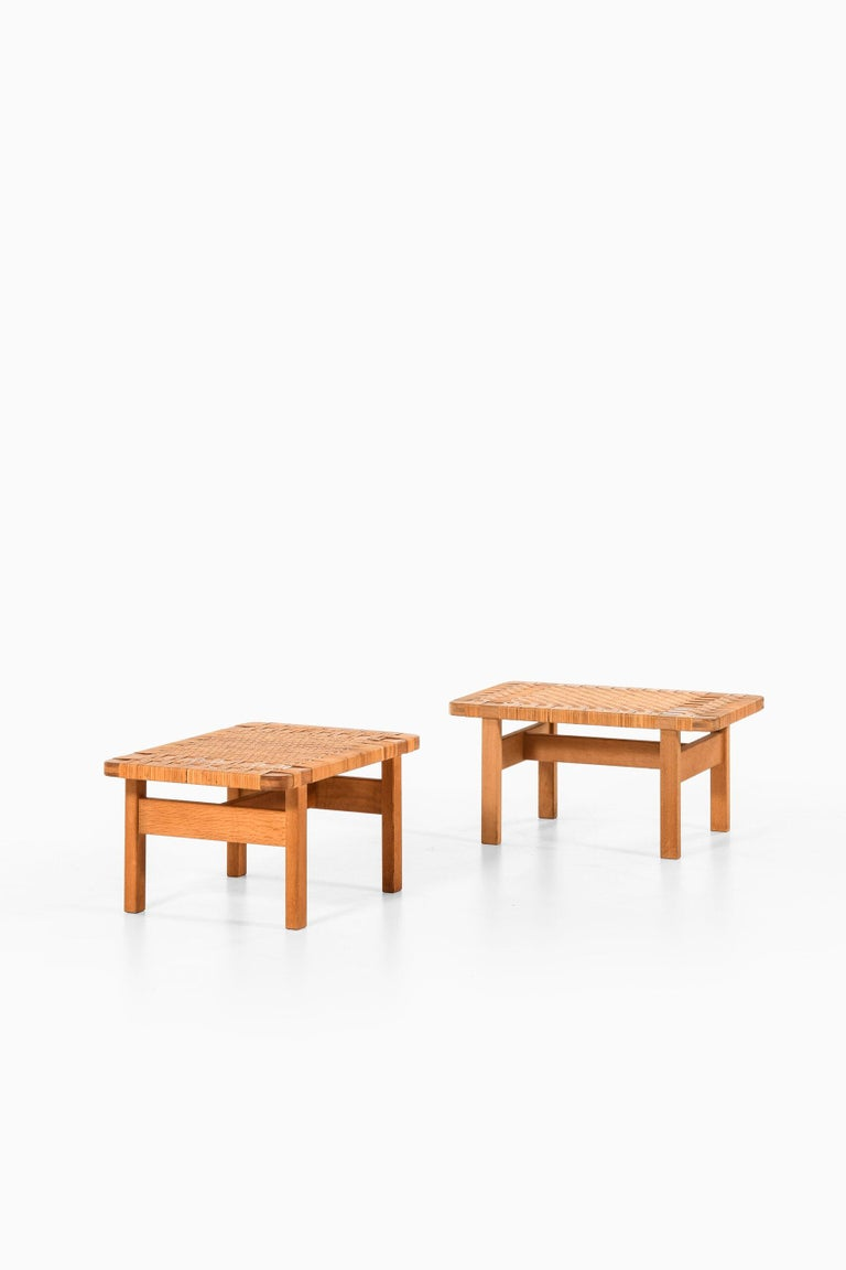 Mid-20th Century Børge Mogensen Side Tables or Benches Model 5273 by Fredericia Stolefabrik For Sale