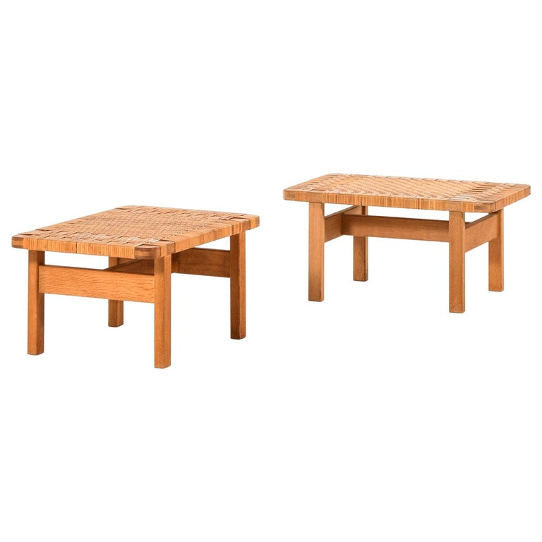Børge Mogensen Side Tables or Benches Model 5273 by Fredericia Stolefabrik For Sale