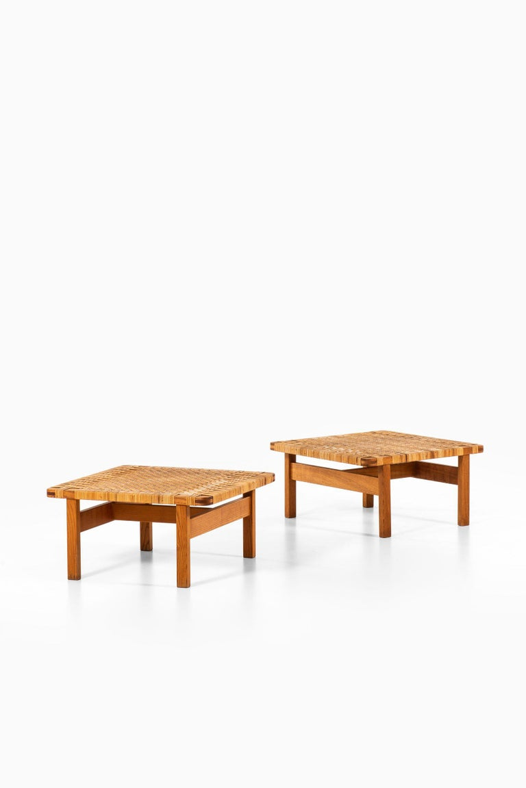 Mid-20th Century Børge Mogensen Side Tables / Benches Model 5274 by Fredericia Stolefabrik For Sale