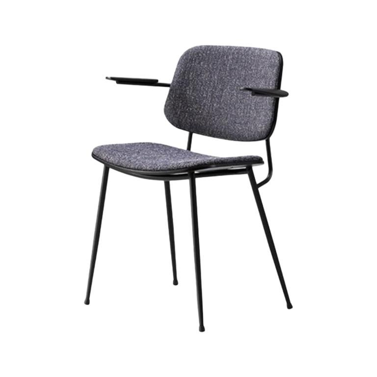 Børge Mogensen Soborg Armchair – Steel Frame, Seat & Back Upholstered