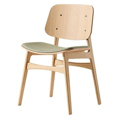 Børge Mogensen Soborg Chair, Wood Frame, Seat Upholstered