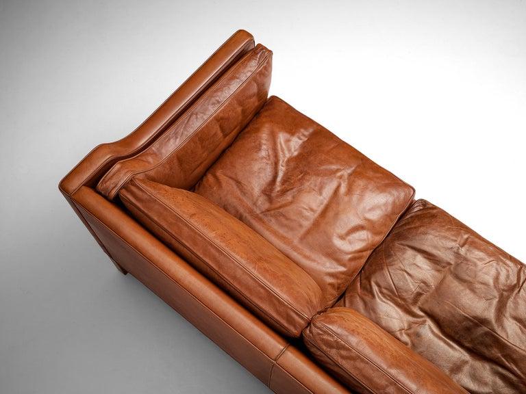 Børge Mogensen Sofa Model 2213 in Cognac Leather For Sale 1