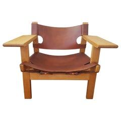 "Børge Mogensen ""Spanish Chair"" 1960s Fredericia Furniture Denmark"