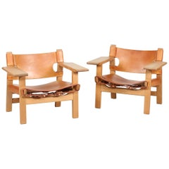 Børge Mogensen Spanish Chair 2226 Oak with Cognac Leather, Fredericia Furniture