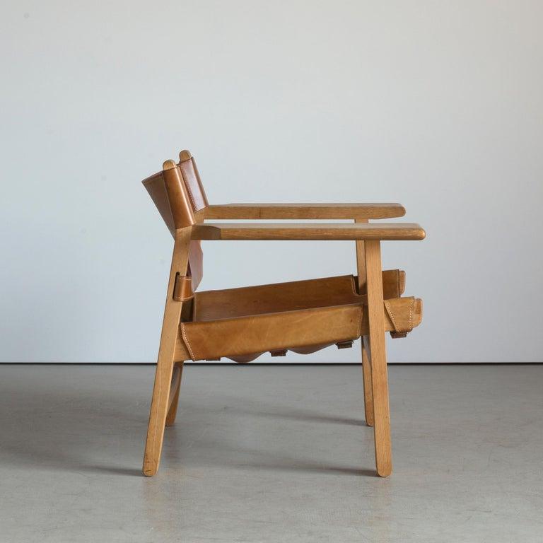 Scandinavian Modern Børge Mogensen Spanish Chair for Fredericia Furniture For Sale