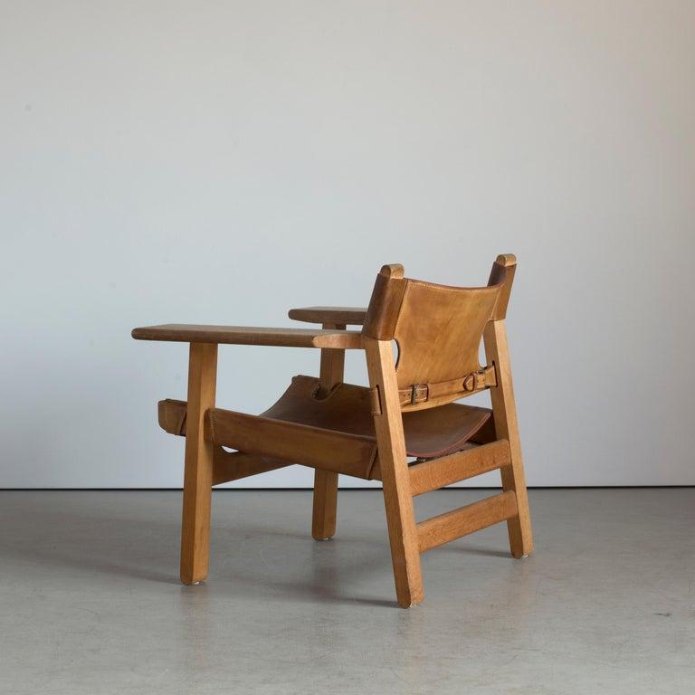 Danish Børge Mogensen Spanish Chair for Fredericia Furniture For Sale