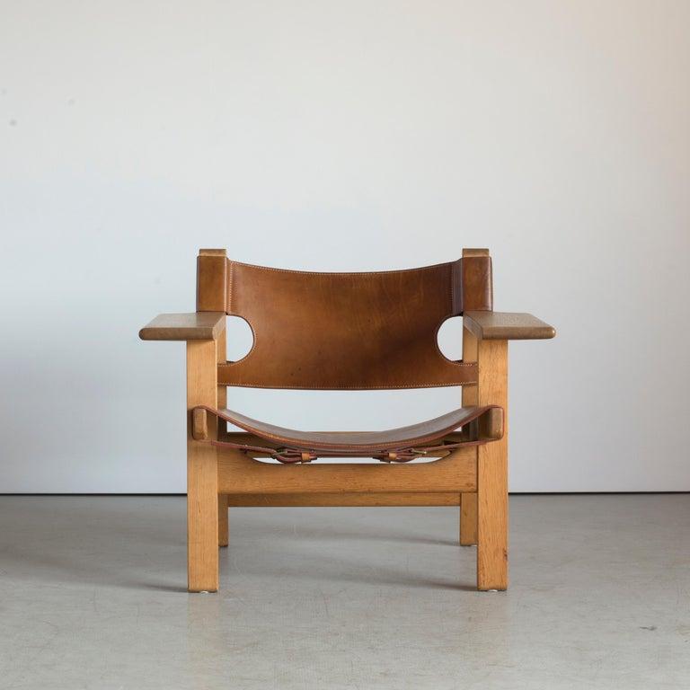 Børge Mogensen Spanish Chair for Fredericia Furniture In Good Condition For Sale In Copenhagen, DK