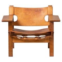 Børge Mogensen Spanish Chair, Oak and Leather, 1958