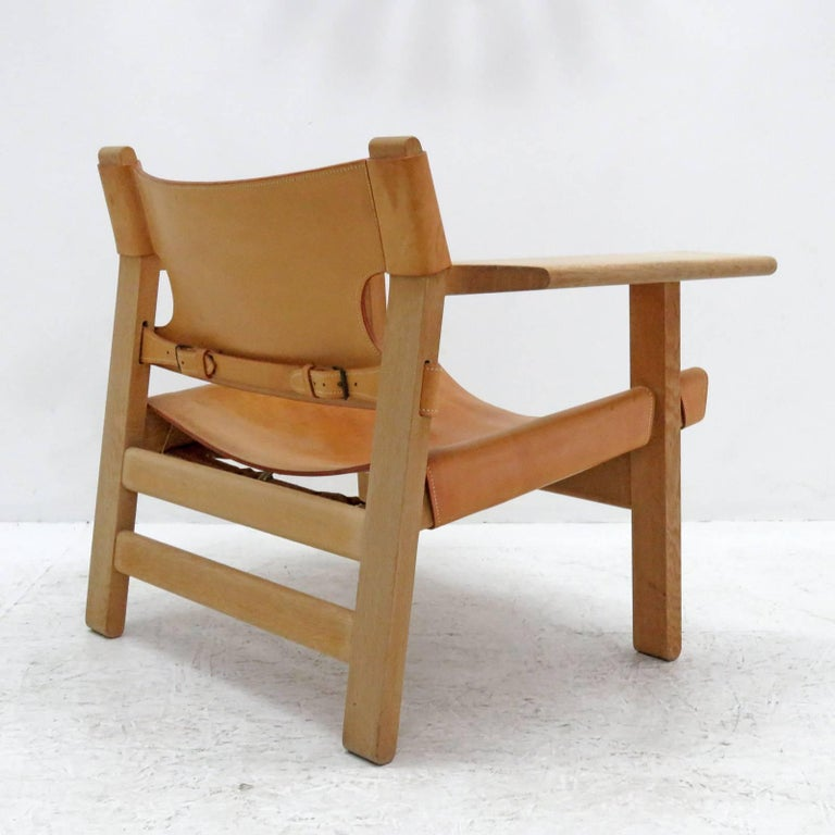 Børge Mogensen 'Spanish Chair', Model 2226 In Excellent Condition For Sale In Los Angeles, CA