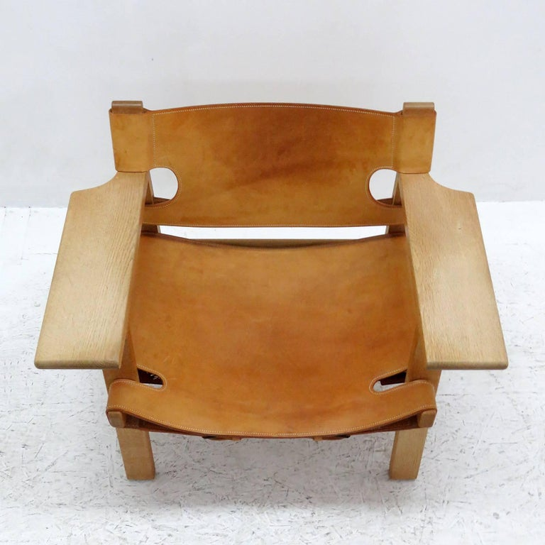 Leather Børge Mogensen 'Spanish Chair', Model 2226 For Sale
