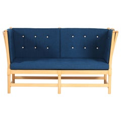 Børge Mogensen Spoke Back Sofa 1789 by Fritz Hansen with Kvadrat Fabric