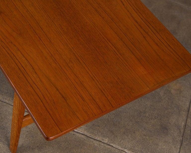 Brass Børge Mogensen Teak and Oak Coffee Table for Fredericia Stolefabrik For Sale