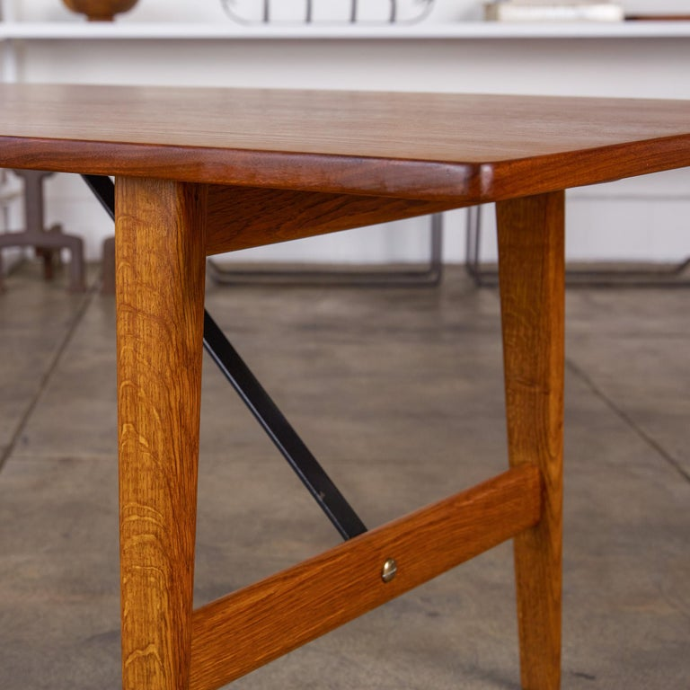 Børge Mogensen Teak and Oak Coffee Table for Fredericia Stolefabrik For Sale 2