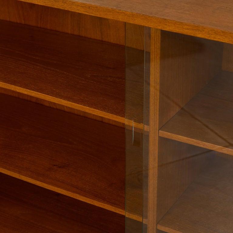 Børge Mogensen Teak Bookcase with Sliding Glass Doors 3