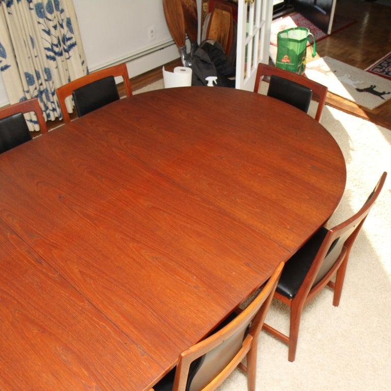 Børge Mogensen Teak Dining Table with 14 David Rosen Chairs, 1960s, Sweden For Sale 5