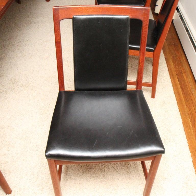 Børge Mogensen Teak Dining Table with 14 David Rosen Chairs, 1960s, Sweden For Sale 9