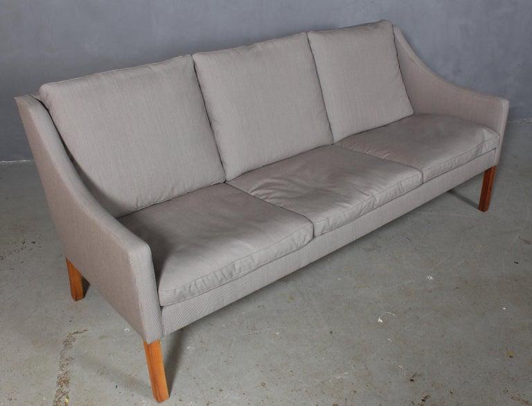 Scandinavian Modern Børge Mogensen Three-Seat Sofa For Sale