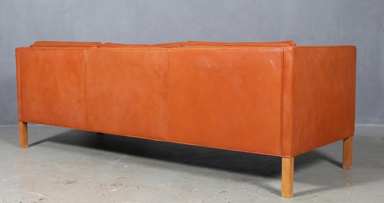 Oak Børge Mogensen Three-Seat Sofa