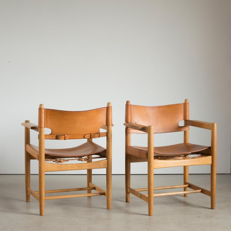 Danish Børge Mogensen Two Armchairs for Fredericia Furniture For Sale