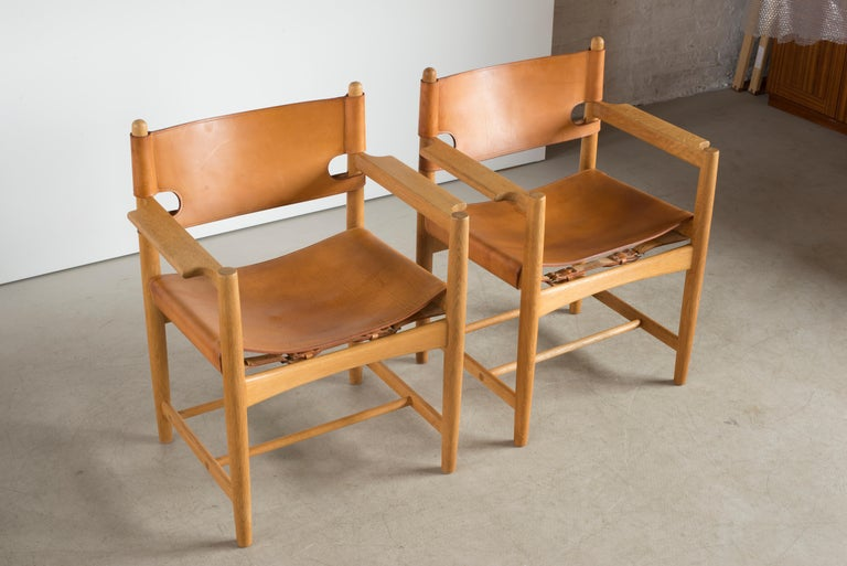 Børge Mogensen Two Armchairs for Fredericia Furniture In Good Condition For Sale In Copenhagen, DK